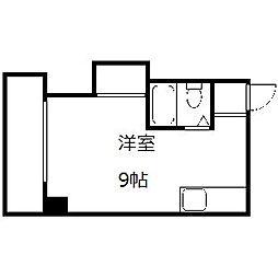 ニューライフ豊平[4階]の間取り