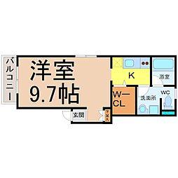フラット矢田南[1階]の間取り