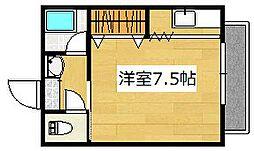 エクセル真孝 2階ワンルームの間取り