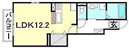 カルム サンリットA[A106 号室号室]の間取り
