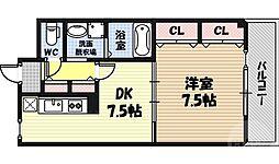 アージュ・ヴェール 3階1DKの間取り