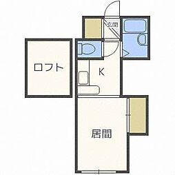 北海道札幌市東区北二十一条東20丁目の賃貸アパートの間取り