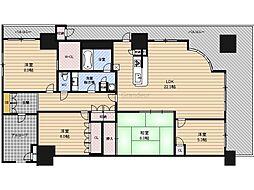 セントプレイスグランドプレミオ 4階4LDKの間取り