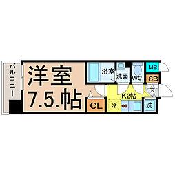 プレサンス名古屋STATIONディーヴァ[302号室]の間取り