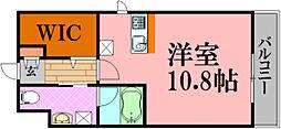 広島電鉄5系統 段原一丁目駅 徒歩22分の賃貸マンション 9階ワンルームの間取り