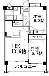 第3元木ビル[306号室]の間取り