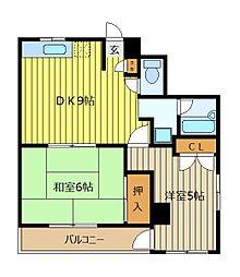 第一アビタシオンアサクラ[5階]の間取り