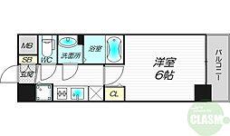 アスヴェル新大阪SOUTH 3階1Kの間取り