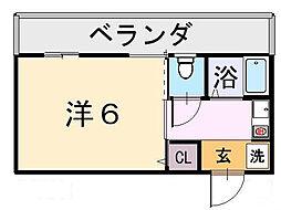 アパートメントハウスタケダ[1階]の間取り