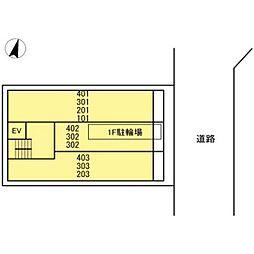 仮)D-room川崎[301号室]の外観