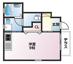 ハイムポワール[1階]の間取り