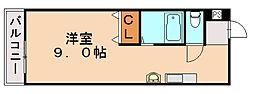 アーバン川津[3階]の間取り