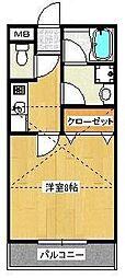 小雀レジデンス[2階]の間取り