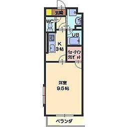 愛知県名古屋市緑区篠の風1丁目の賃貸マンションの間取り