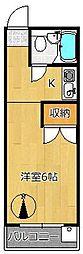センターマンション[1階]の間取り