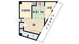 愛知県名古屋市天白区鴻の巣1の賃貸マンションの間取り