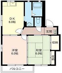 MAST OAKS-HILL202号室[2階]の間取り