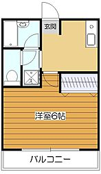 東京都東村山市本町3の賃貸アパートの間取り
