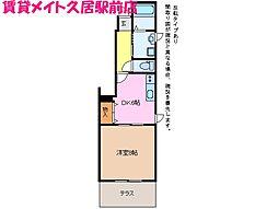 三重県津市戸木町の賃貸アパートの間取り