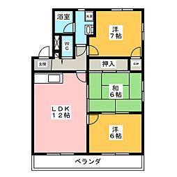 マンションミズホ[2階]の間取り