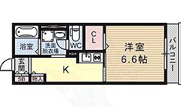 レトアボヌール 1階1Kの間取り