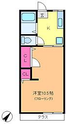 クローバーハウスC棟[1階]の間取り