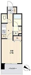 JR東北本線 長町駅 徒歩6分の賃貸マンション 4階1Kの間取り