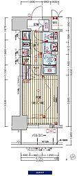 阪神なんば線 九条駅 徒歩3分の賃貸マンション 12階1Kの間取り