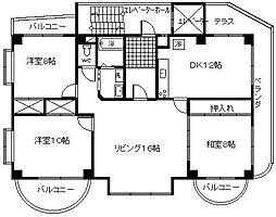 サンケイマンション第5ビル[501号室]の間取り