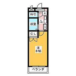 愛知県名古屋市名東区本郷1丁目の賃貸マンションの間取り