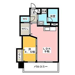 ベーシックビル博多[12階]の間取り