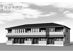 茨城県つくば市大曽根の賃貸アパートの外観