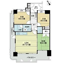 ライオンズマンション小禄金城第2[6階]の間取り