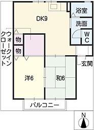 セジュール亀山E棟[2階]の間取り