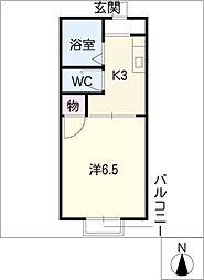 サンハイツ前田A,B[2階]の間取り