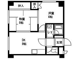 サンハイツUNO[203号室]の間取り