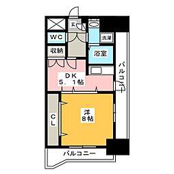 リファレンスイーストパーク[13階]の間取り