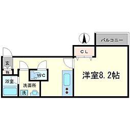 ピノモンテ江坂[3階]の間取り