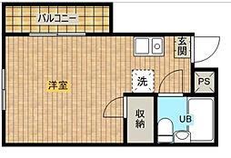 レジデンス浜松[8階]の間取り