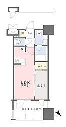 JR鹿児島本線 千早駅 徒歩4分の賃貸マンション 11階1LDKの間取り