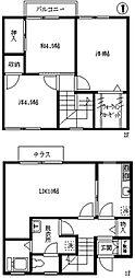 [テラスハウス] 東京都練馬区中村南2丁目 の賃貸【東京都 / 練馬区】の間取り