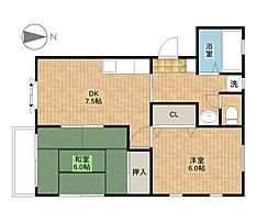 埼玉県さいたま市中央区本町西3丁目の賃貸マンションの間取り