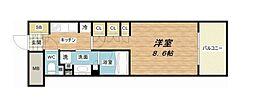 JR東海道・山陽本線 大阪駅 徒歩7分の賃貸マンション 7階1Kの間取り