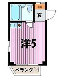 埼玉県ふじみ野市福岡中央2丁目の賃貸マンションの間取り