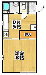 コーポ松崎[2-B号室]の間取り