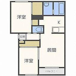 シルスII[2階]の間取り