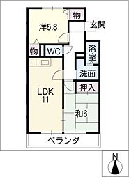 Festa中平[2階]の間取り