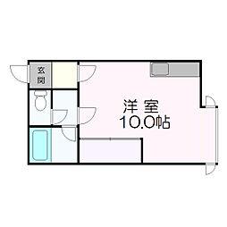 北海道札幌市厚別区厚別中央三条4丁目の賃貸マンションの間取り