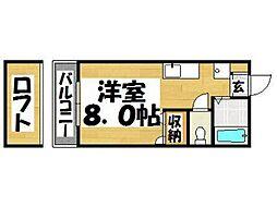 福岡県春日市小倉5丁目の賃貸アパートの間取り