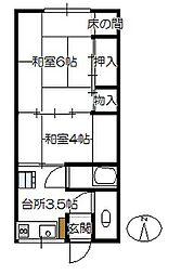 平荘[203号室]の間取り